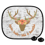 Floral Antler Car Side Window Sun Shade (Personalized)