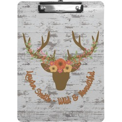 Floral Antler Clipboard (Personalized)