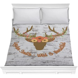 Floral Antler Comforter (Personalized)