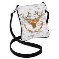 Floral Antler Cross Body Bag - 2 Sizes (Personalized)