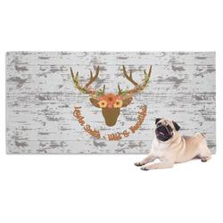 Floral Antler Dog Towel (Personalized)