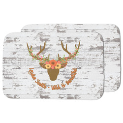 Floral Antler Dish Drying Mat (Personalized)