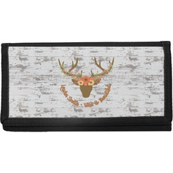 Floral Antler Canvas Checkbook Cover (Personalized)