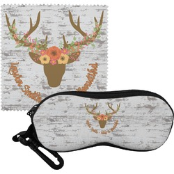 Floral Antler Eyeglass Case & Cloth (Personalized)