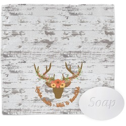 Floral Antler Wash Cloth (Personalized)