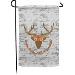 Floral Antler Garden Flag - Single or Double Sided (Personalized)