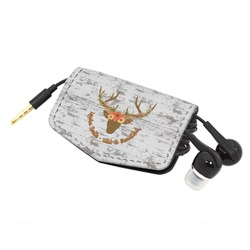 Floral Antler Genuine Leather Cord Wrap (Personalized)