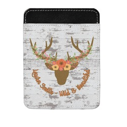 Floral Antler Genuine Leather Money Clip (Personalized)