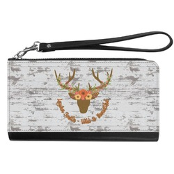 Floral Antler Genuine Leather Smartphone Wrist Wallet (Personalized)