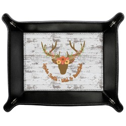 Floral Antler Genuine Leather Valet Tray (Personalized)
