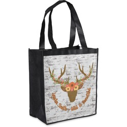 Floral Antler Grocery Bag (Personalized)