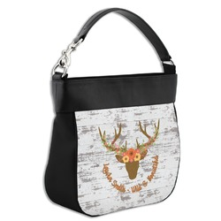 Floral Antler Hobo Purse w/ Genuine Leather Trim (Personalized)