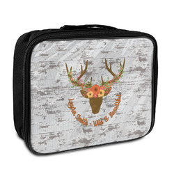 Floral Antler Insulated Lunch Bag (Personalized)