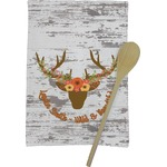 Floral Antler Kitchen Towel - Full Print (Personalized)