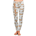 Floral Antler Ladies Leggings (Personalized)