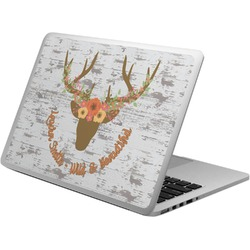 Floral Antler Laptop Skin - Custom Sized (Personalized)
