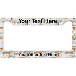 Floral Antler License Plate Frame (Personalized)