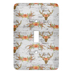 Floral Antler Light Switch Covers (Personalized)