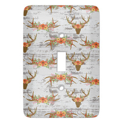 Floral Antler Light Switch Covers - Multiple Toggle Options Available (Personalized)