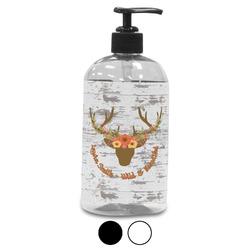 Floral Antler Plastic Soap / Lotion Dispenser (Personalized)