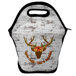 Floral Antler Lunch Bag (Personalized)