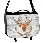 Floral Antler Messenger Bag (Personalized)