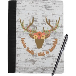 Floral Antler Notebook Padfolio (Personalized)