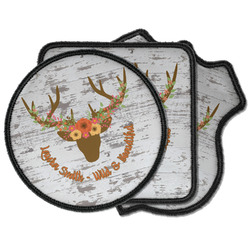 Floral Antler Iron on Patches (Personalized)