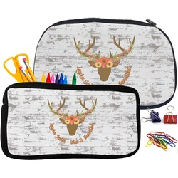 Floral Antler Neoprene Pencil Case (Personalized)