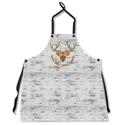 Floral Antler Apron Without Pockets w/ Name or Text