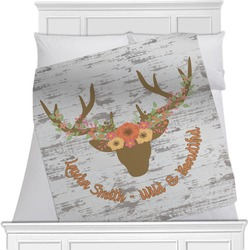 Floral Antler Blanket (Personalized)