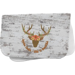 Floral Antler Burp Cloth (Personalized)