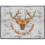 Floral Antler Door Mat (Personalized)