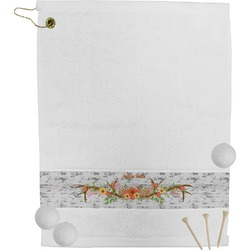 Floral Antler Golf Towel (Personalized)