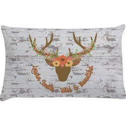 Floral Antler Pillow Case (Personalized)