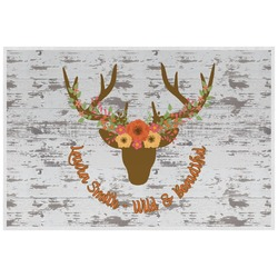 Floral Antler Placemat (Laminated) (Personalized)