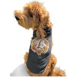Floral Antler Black Pet Shirt - S (Personalized)