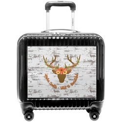 Floral Antler Pilot / Flight Suitcase (Personalized)