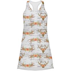 Floral Antler Racerback Dress (Personalized)
