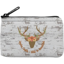 Floral Antler Rectangular Coin Purse (Personalized)