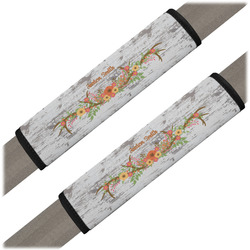 Floral Antler Seat Belt Covers (Set of 2) (Personalized)