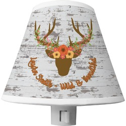 Floral Antler Shade Night Light (Personalized)