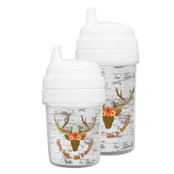 Floral Antler Sippy Cup (Personalized)