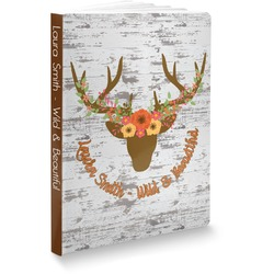 Floral Antler Softbound Notebook (Personalized)