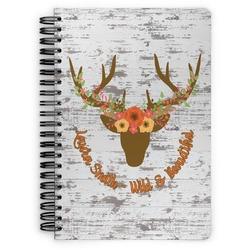 Floral Antler Spiral Bound Notebook (Personalized)