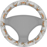 Floral Antler Steering Wheel Cover (Personalized)