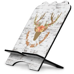 Floral Antler Stylized Tablet Stand (Personalized)