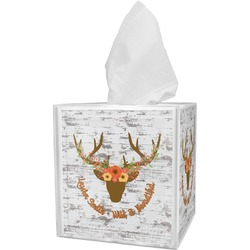 Floral Antler Tissue Box Cover (Personalized)