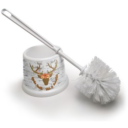 Floral Antler Toilet Brush (Personalized)