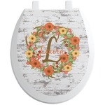 Floral Antler Toilet Seat Decal (Personalized)